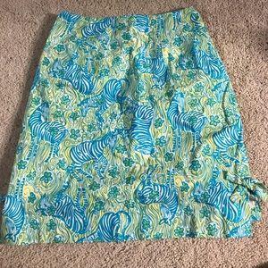 Size 6 Authentic Lilly Pulitzer Zebra Skirt